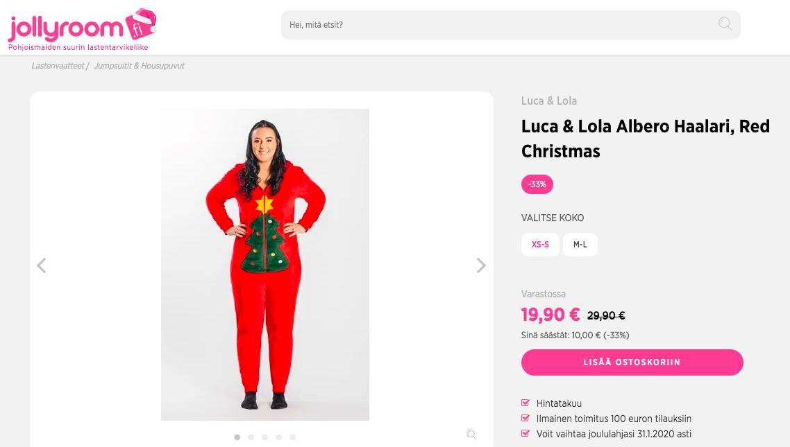joululahja jollyroom